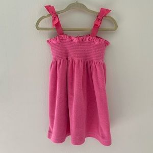 Janie & Jack pink Terry Cloth Swim Coverup w/ Bows